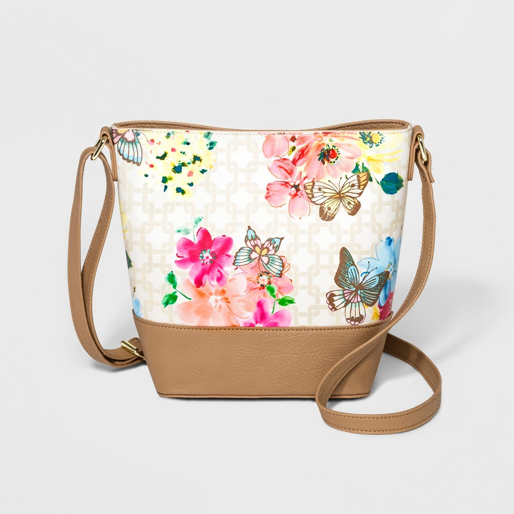 Image of Bueno Floral Bucket Bag - White, Women's, Size: Small