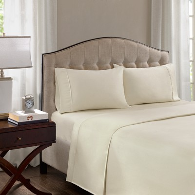 Cotton Blend Pillowcases Set (King)Ivory 1500 Thread Count