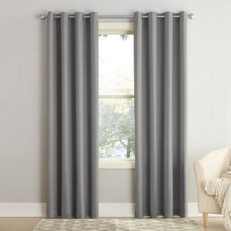 "Seymour Energy Efficient Grommet Curtain Panel Gray 54""x63""- Sun Zero"