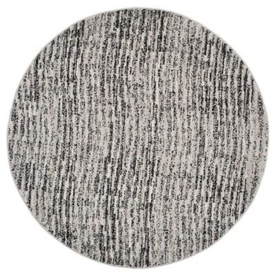 Adirondack Rug - Black/Silver - (6'x6' Round)- Safavieh®