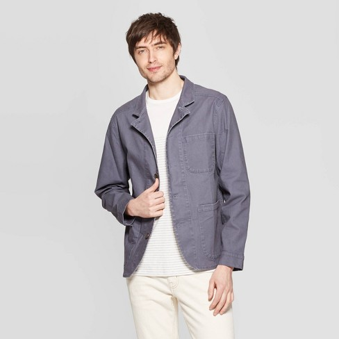 Men's Casual Fit Lightweight Chore Jacket - Goodfellow & Co™ Gray - image 1 of 3