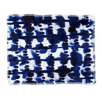 "60""X50"" Jacqueline Maldonado Parallel Throw Blanket Blue - Deny Designs"