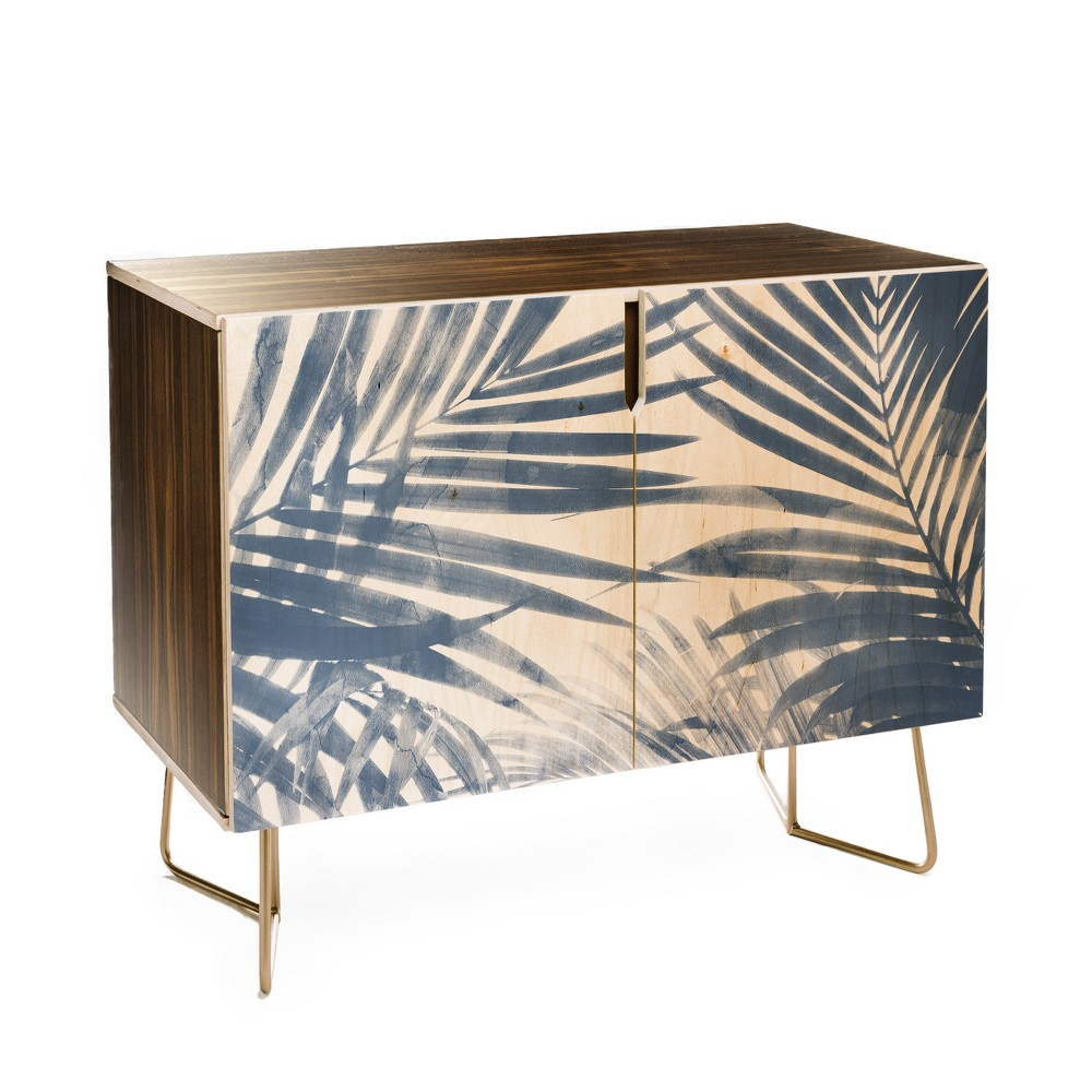 Emanuela Carratoni Serenity Palms Credenza with Gold Aston Legs - Deny Designs, Gold Legs