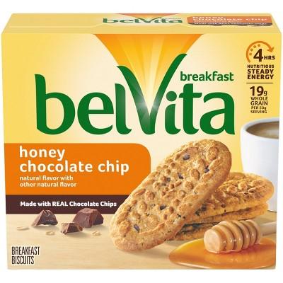 belVita Honey Chocolate Chip Breakfast Biscuits - 5 Packs