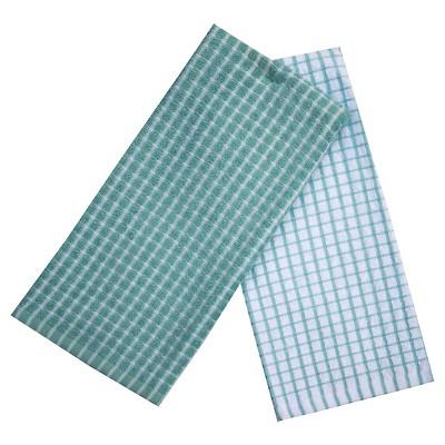 Caribbean Aqua Grid Kitchen Towel (16 X26  , 2 Pk)- Room Essentials™