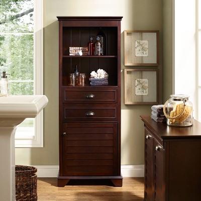 Crosley Tall Cabinet in Espresso