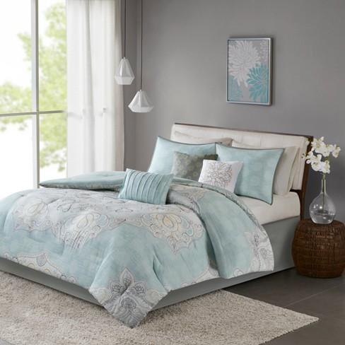 Blue Leslie Reversible Cotton Sa