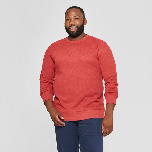 Men's Tall Standard Fit Long Sleeve Waffle Thermal T-Shirt - Goodfellow & Co™ Ripe Red LT - image 1 of 3
