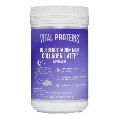 Vital Proteins Blueberry Moon Milk Collagen Latte Dietary Supplement - 11.5oz
