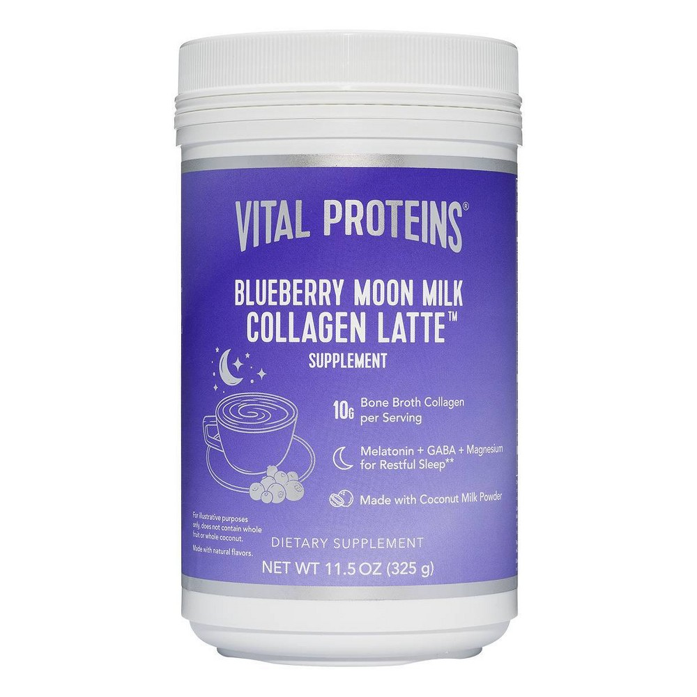 Image of Vital Proteins Blueberry Moon Milk Collagen Latte Dietary Supplement - 11.5oz