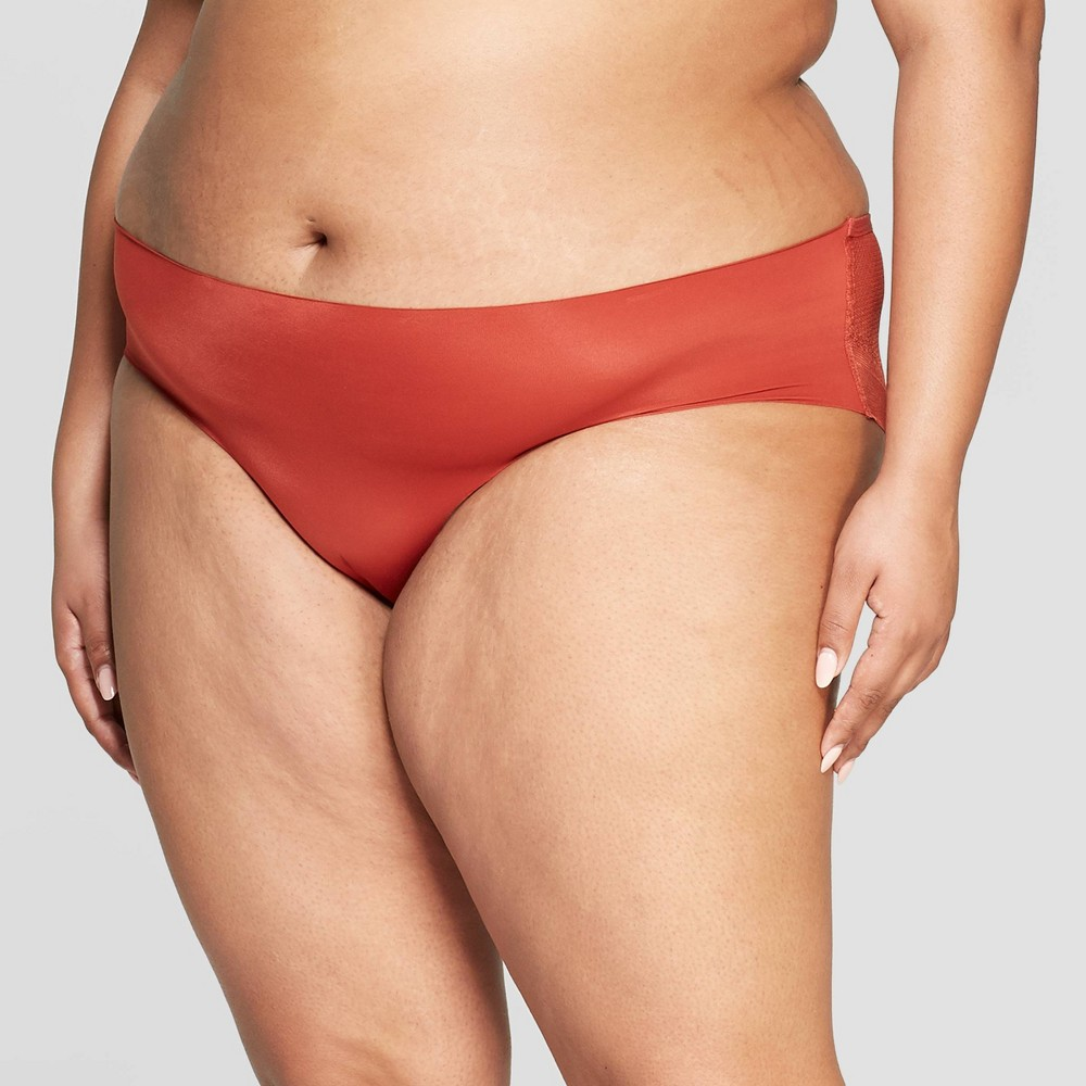 59ef9e3e6f5 Womens Plus Size Bonded Hipster with Mesh Back Auden Orange Berry 3X