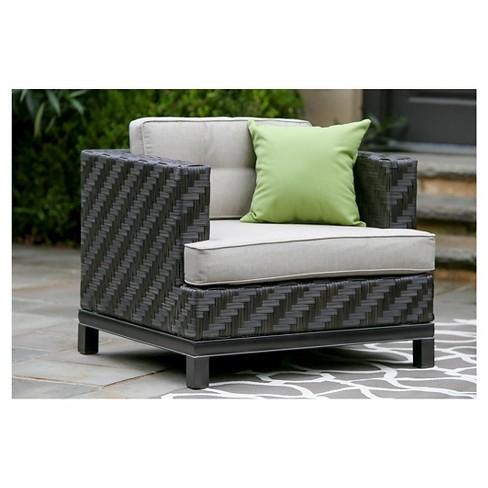 Rachel Single Arm Chair With Sunbrella Fabric Cast - Ash - AE Outdoor - Rachel Single Arm Chair With Sunbrella Fabric Cast - Ash - AE