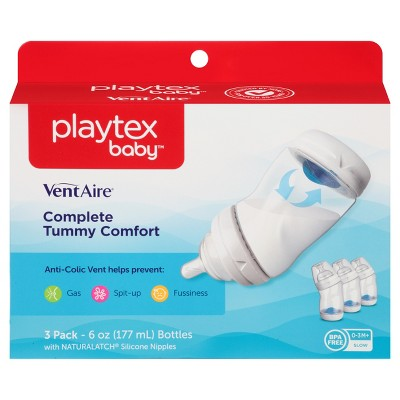 Playtex Baby VentAire Complete Tummy Comfort 6oz 3pk Baby Bottle