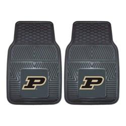 NCAA Purdue University Vinyl Car Mat Set - 2pc