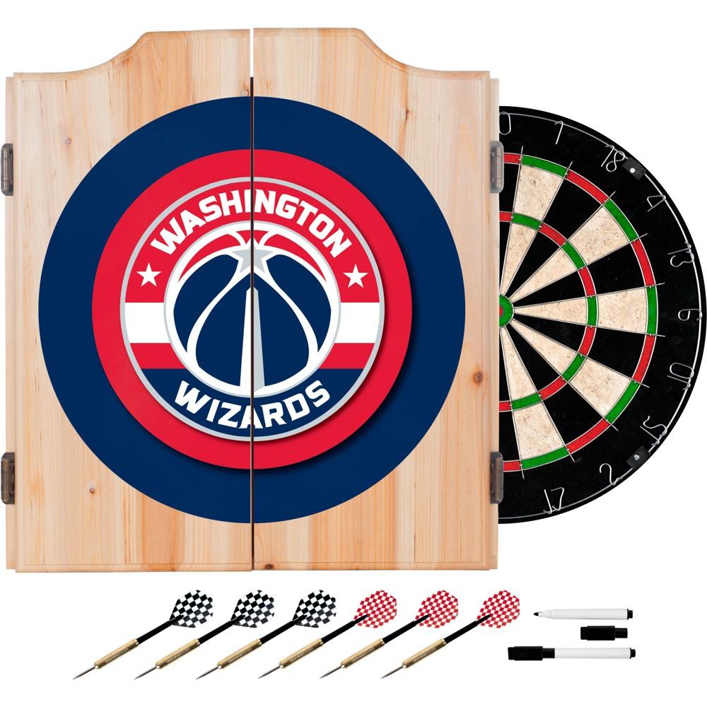 NBA Washington Wizards Wood Dart Cabinet Set