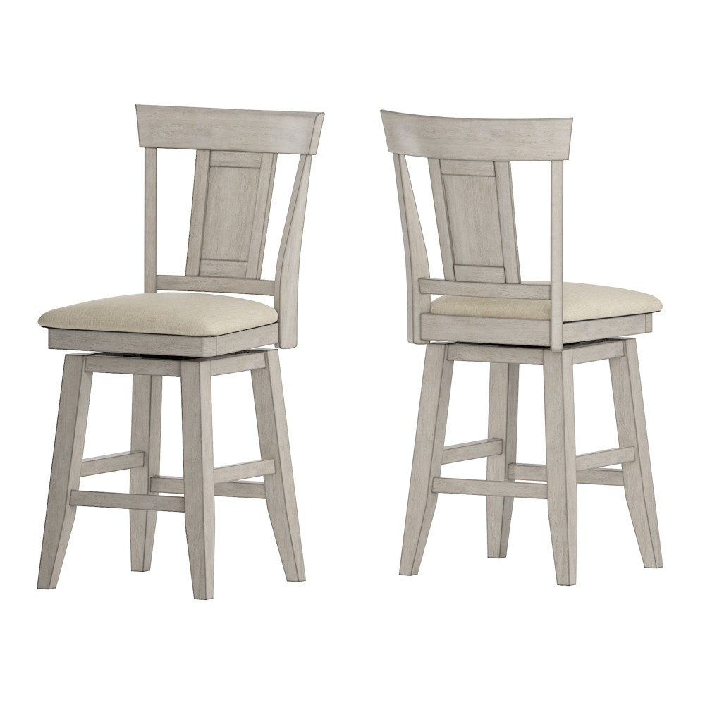 """Image of """"24"""""""" South Hill Panel Back Swivel Counter Height Chair White - Inspire Q"""""""
