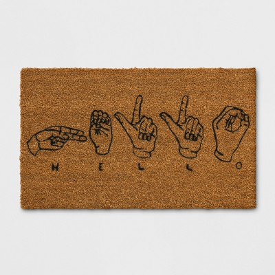 18 x30  Hand Tufted Rug Black - Room Essentials™