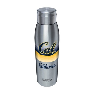 NCAA Cal Golden Bears 17oz Retro Stripe Stainless Steel Water Bottle