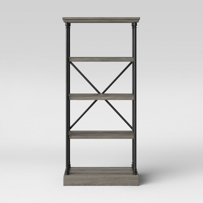 65 Conway Cast Iron Bookcase Wood - Threshold™