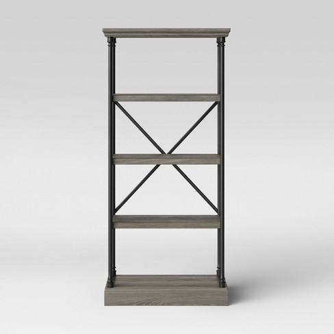 65 Conway Cast Iron Bookcase Wood Threshold