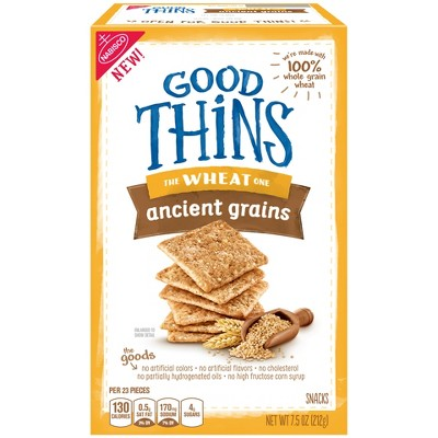 Crackers: Good Thins Wheat