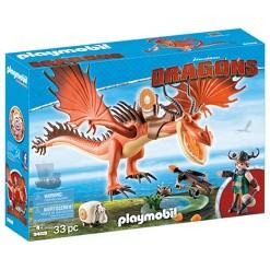 Playmobil Snotlout and Hookfang