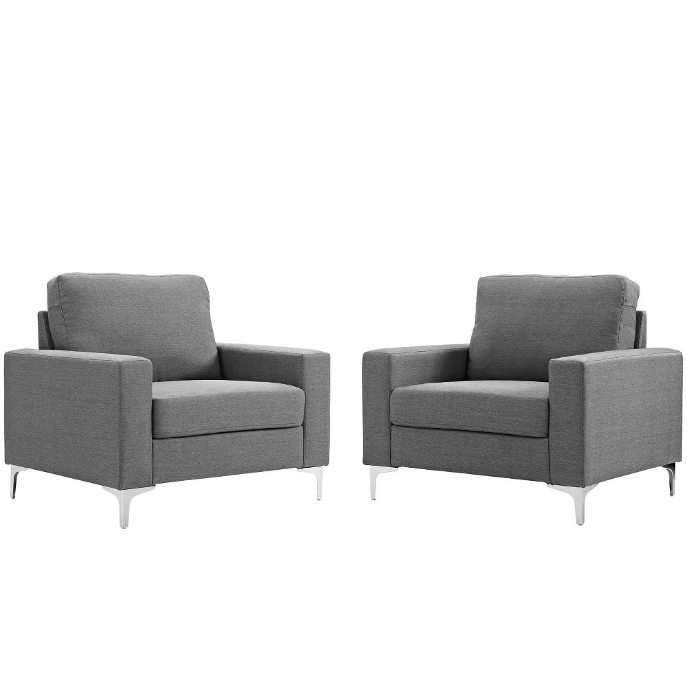Image of 2pc Allure Armchair Set Gray - Modway
