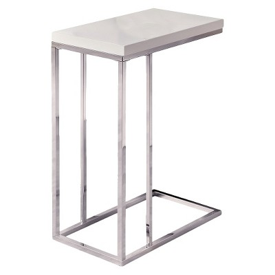 C Shape Accent Table - White - EveryRoom