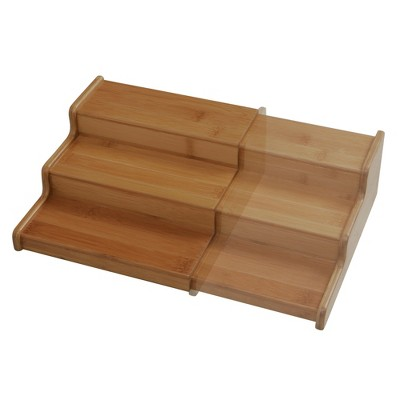 Seville 3-Tier Expandable Bamboo Spice Organizer Shelf Natural