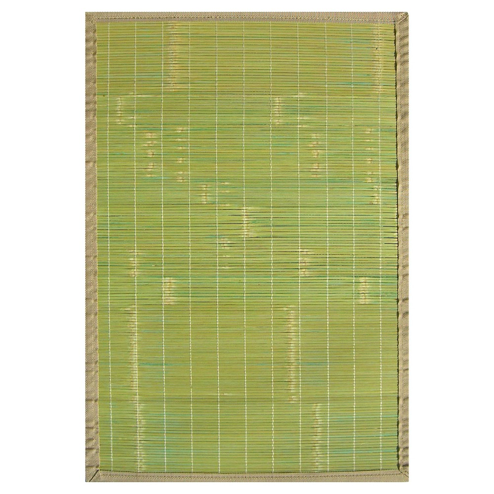 Anji Mountain Solid Rayon made from Bamboo Area Rug - Green (6'x9')