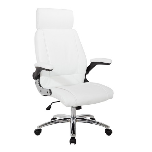 Superb Executive Faux Leather Chair White Osp Home Furnishings Gmtry Best Dining Table And Chair Ideas Images Gmtryco