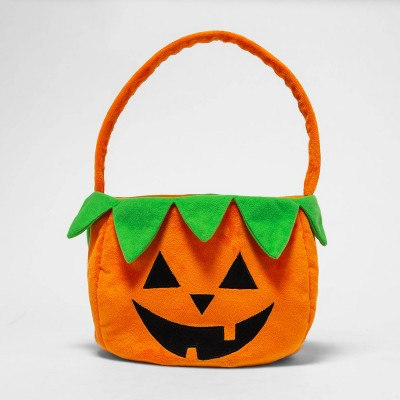 Plush Pumpkin Pail Halloween Trick or Treat Container - Hyde & EEK! Boutique™