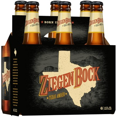 ZiegenBock Texas Amber Beer - 6pk/12 fl oz Bottles