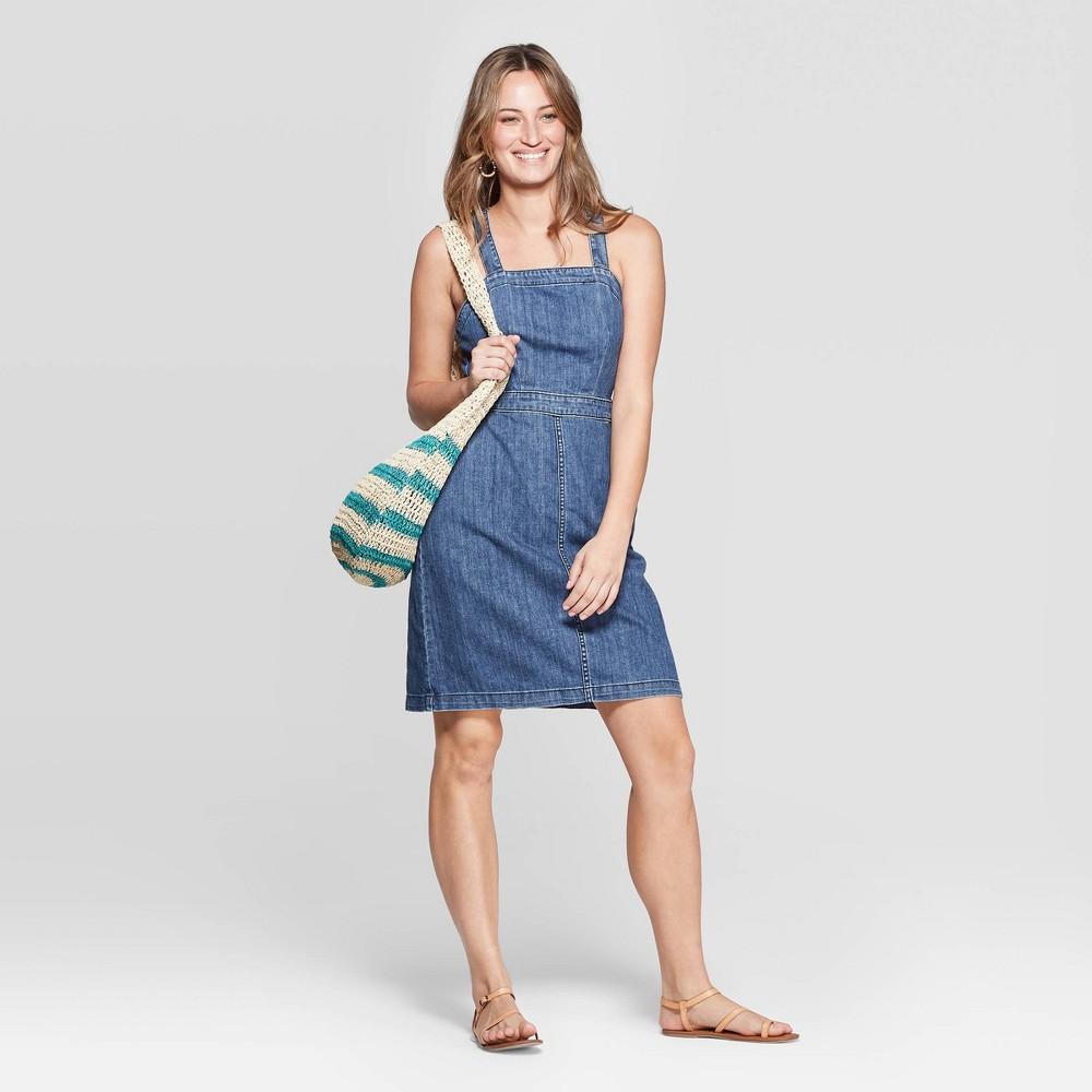 1cdb9b1d3ef Womens Sleeveless Scoop Neck Tank Denim Dress Universal Thread Blue 12