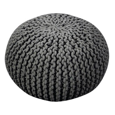 Moro Pouf Ottoman - Gray - Christopher Knight Home
