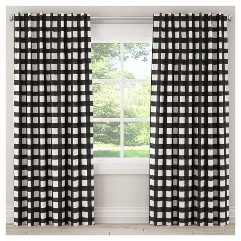Unlined Buffalo Check Curtain Panel - Skyline Furniture® - image 1 of 5
