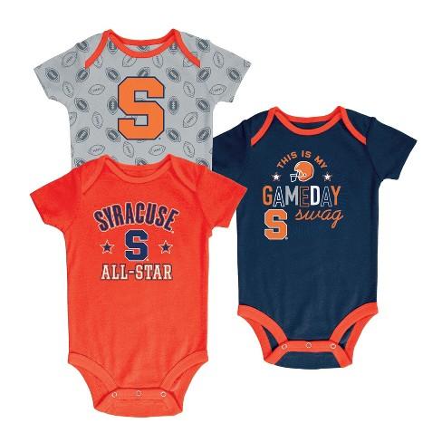 Syracuse Orange Baby Boy Short Sleeve 3pk Bodysuit - image 1 of 1
