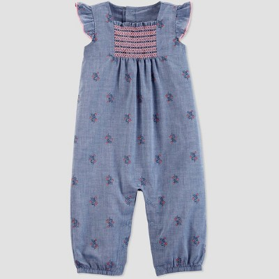 Baby Girls' Jumpsuit - Just One You® made by carter's Blue 9M