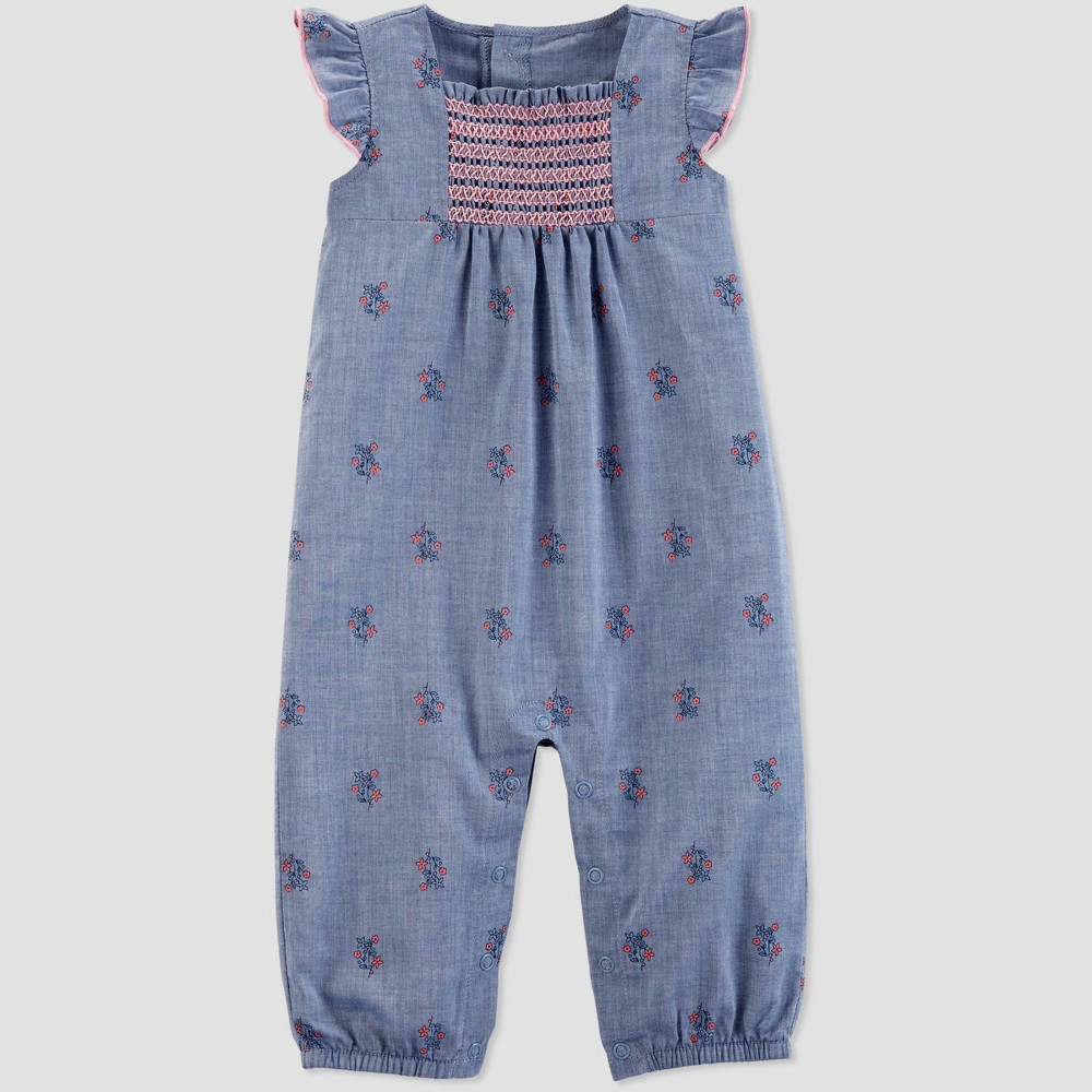 Baby Girls' Jumpsuit - Just One You made by carter's Blue 3M
