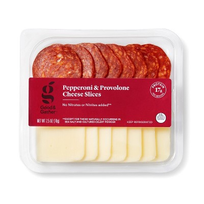 Pepperoni and Provolone Cheese Slices - 2.5oz - Good & Gather™