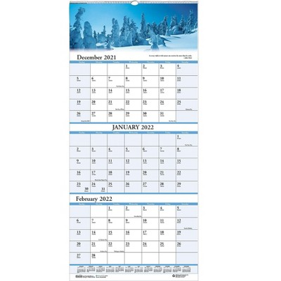 """House of Doolittle 2022 17"""" x 8"""" Wall Calendar Earthscapes Scenic Multicolor 3636-22"""