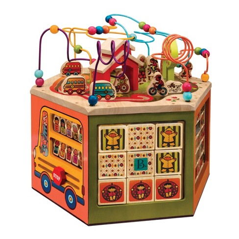 B Toys Youniversity Deluxe Wooden Activity Cube