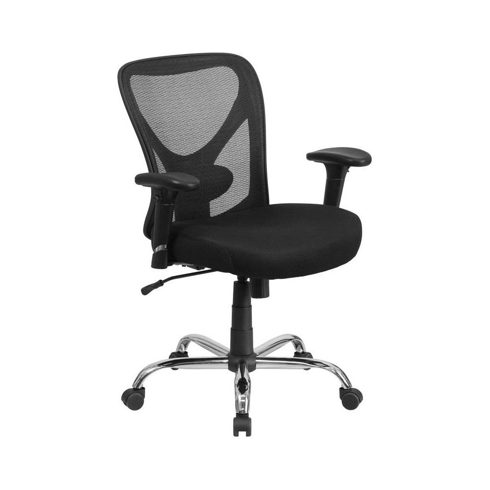 Mid Back Chair Black - Riverstone Furniture Collection