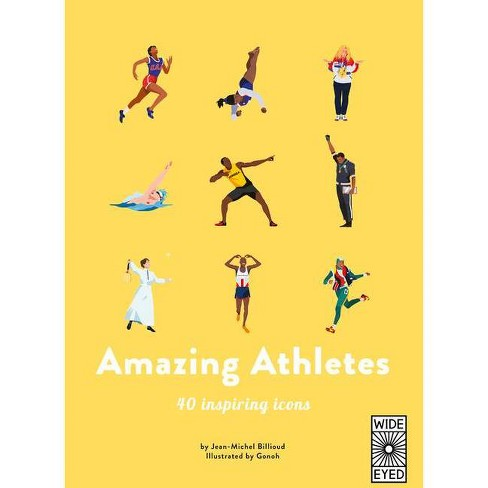Amazing Athletes - (40 Inspiring Icons) by  Jean-Michel Billioud (Hardcover) - image 1 of 1