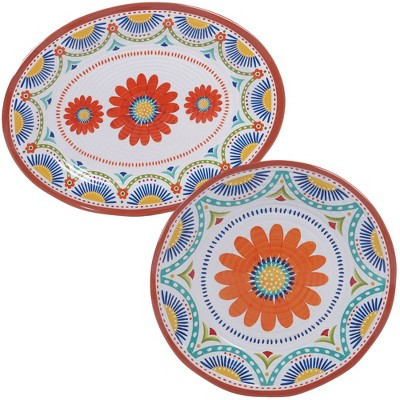 Vera Cruz 2pk Melamine Platter Set - Certified International