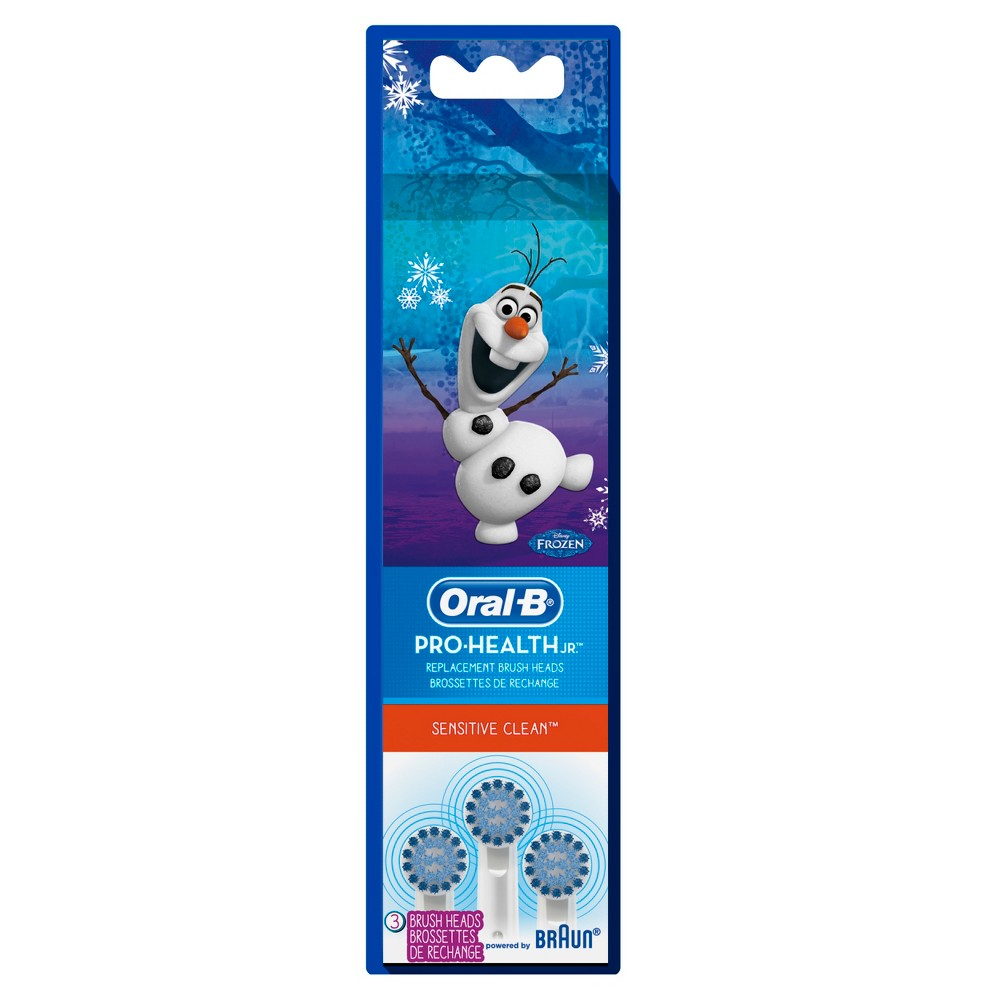 Pro-Health Jr. Sensitive Clean Disney Frozen Kids Replacement Toothbrush Heads - 3ct