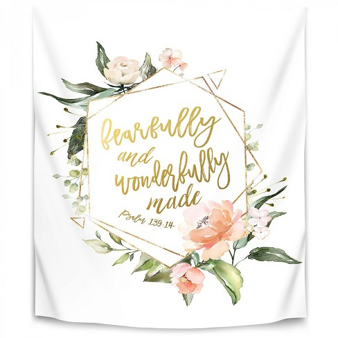 Fearfully And Wonderfully Summer Floral Geo By Wall Wonder Wall Tapestry Target