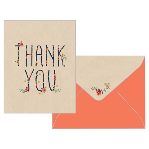 Rose Arbor Thank You Cards 10ct Target