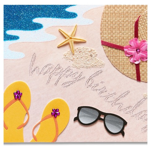 Papyrus Beach Scene Birthday Card Target