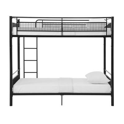 Twin Metal Mesh Frame Bunk Bed Black - Saracina Home